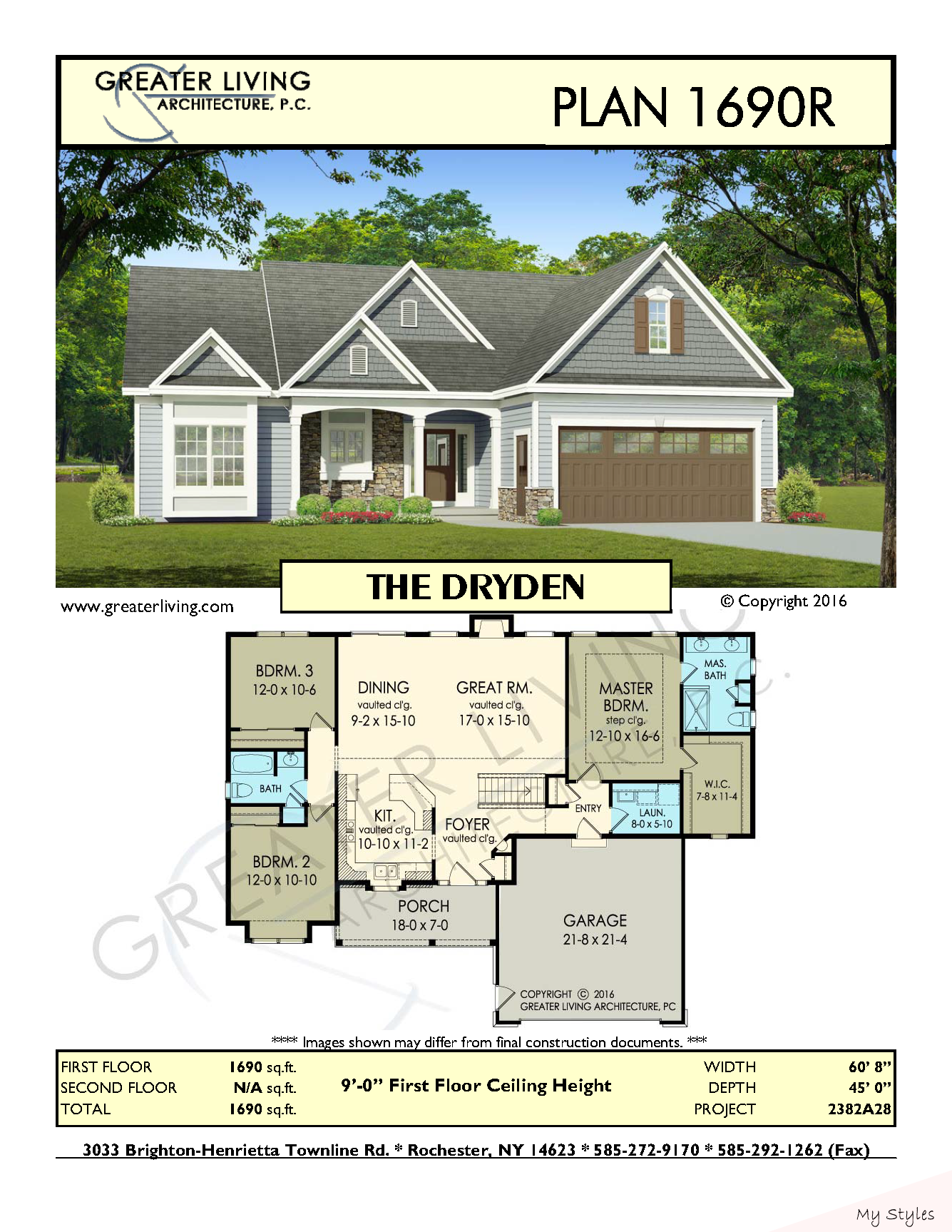 Plan 1690r The Dryden Ranch House Plan Greater Living Architecture Residential Arch Residential A In 2020 Craftsman House Plans Ranch House Plans House Plans