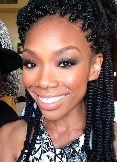 Monday Hair Rate    Afro Kinky twist van Brandy Norwood sweet chocholate lataee your beauty never fails to amaze me
