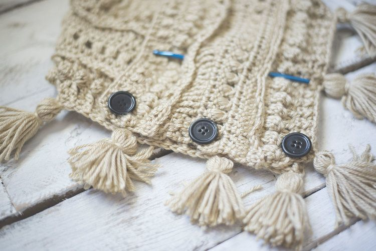 Free Crochet Pattern for the Textured Boho Cowl