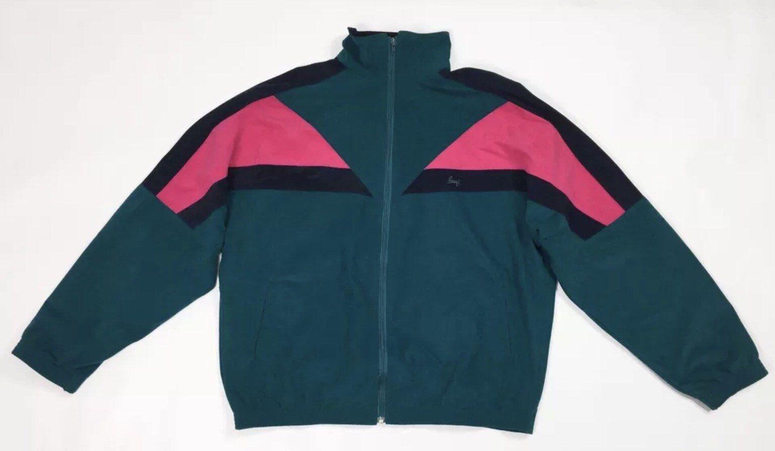 unisex Brugi uomo verde usato XL felpa giacca vintage tuta jacket 60R1w6 f5828f25bb1