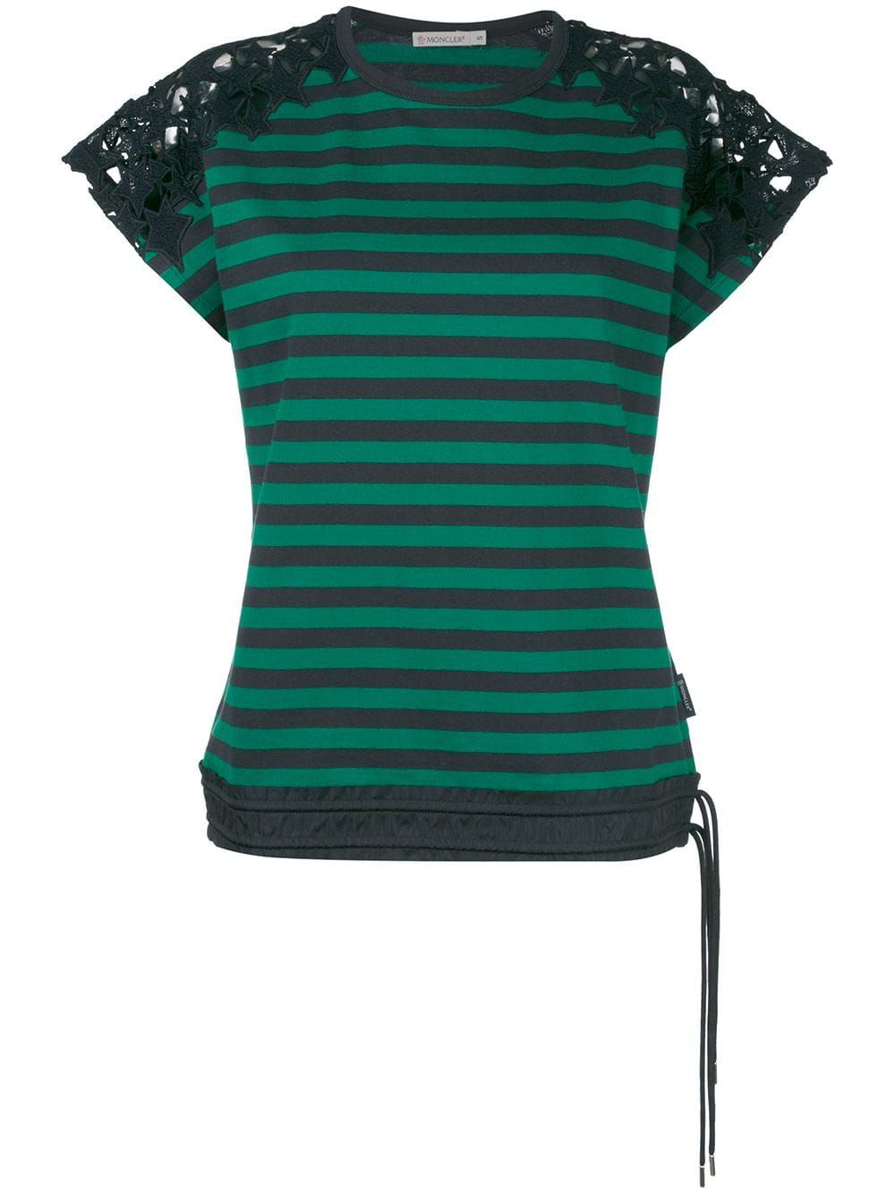 9534b9ddf Moncler striped T-shirt - Green in 2019 | Products | Striped tee ...