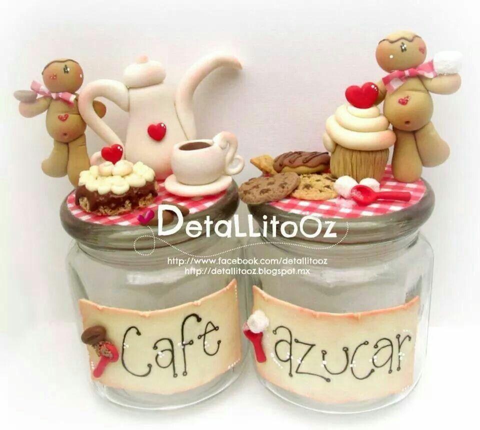 Para el caf y az car en masa polymera o pasta francesa for Adornos navidenos en porcelana fria utilisima