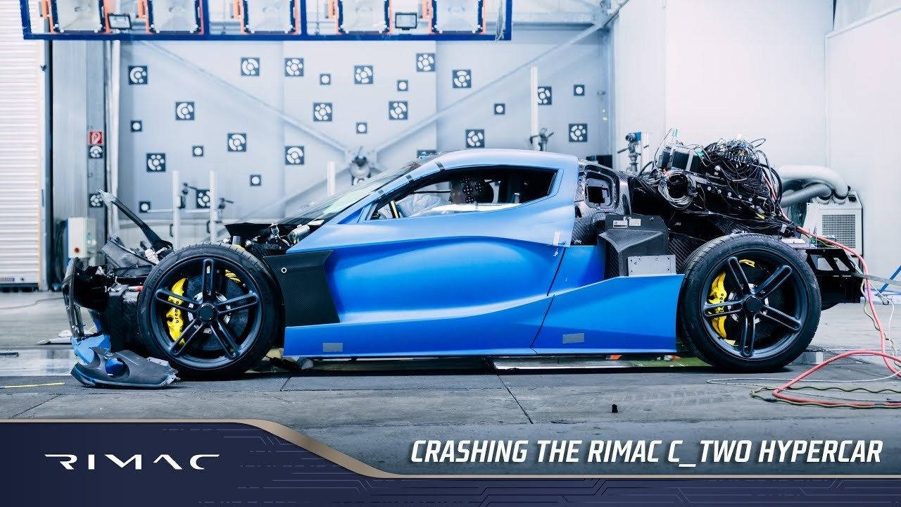 Rimac Repeatedly Crash Tests Their C Two Electric Supercar Super Cars Electric Sports Car Crash