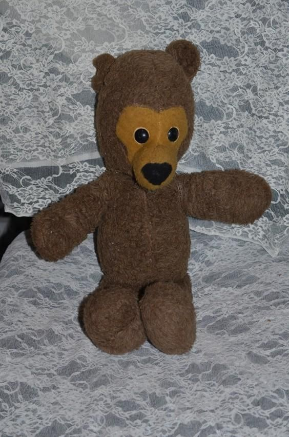 Old Teddy Bear Character Sweet Face Animal Fair Inc Bears And