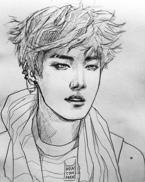 Kpop Arts ʕ•ᴥ•ʔ | Рисунки лица, Рисование портретов, Рисунки