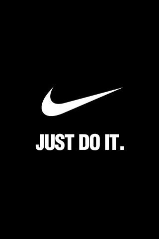 NIKE Just Do It Dark Background iPhone 5 Wallpaper