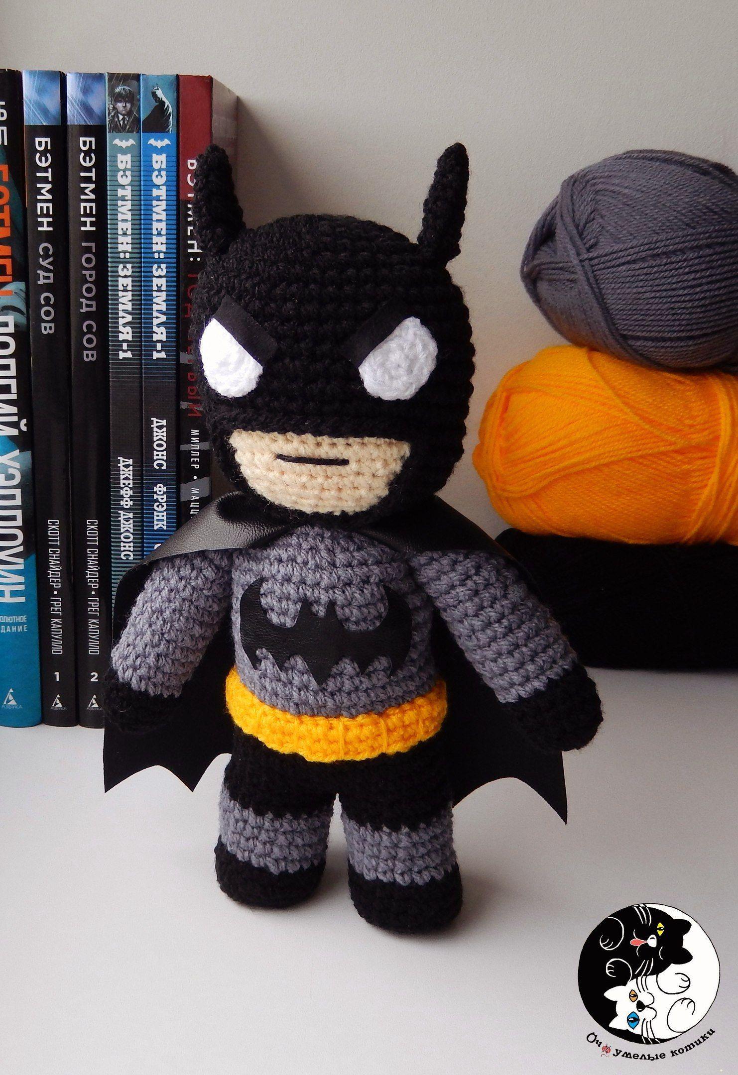 Batman Amigurumi - Crochet Doll - DC Comics - Knitted Superhero ...
