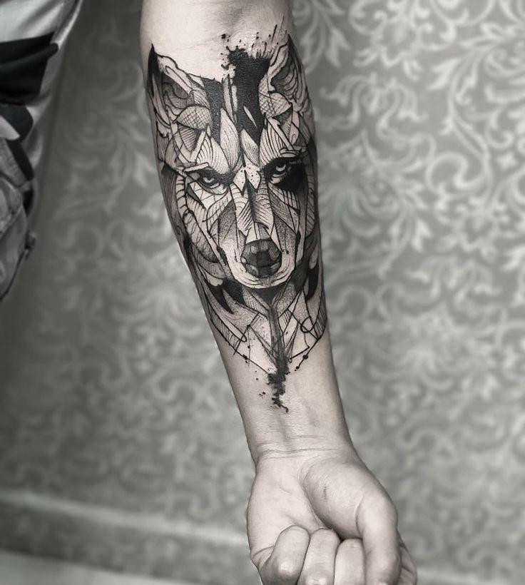 Wolf mann tattoo unterarm Tattoo Ideen