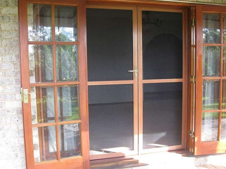 Doors French Door Screens To Blend Wood And Glass Choosing French