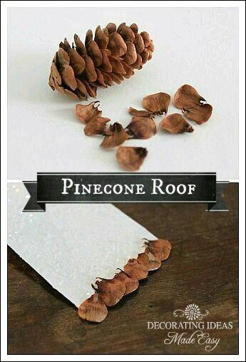 Fairy houses - pinecone roof
