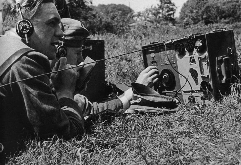 Kurt Meyerwith a Radio operator Knights of the Third