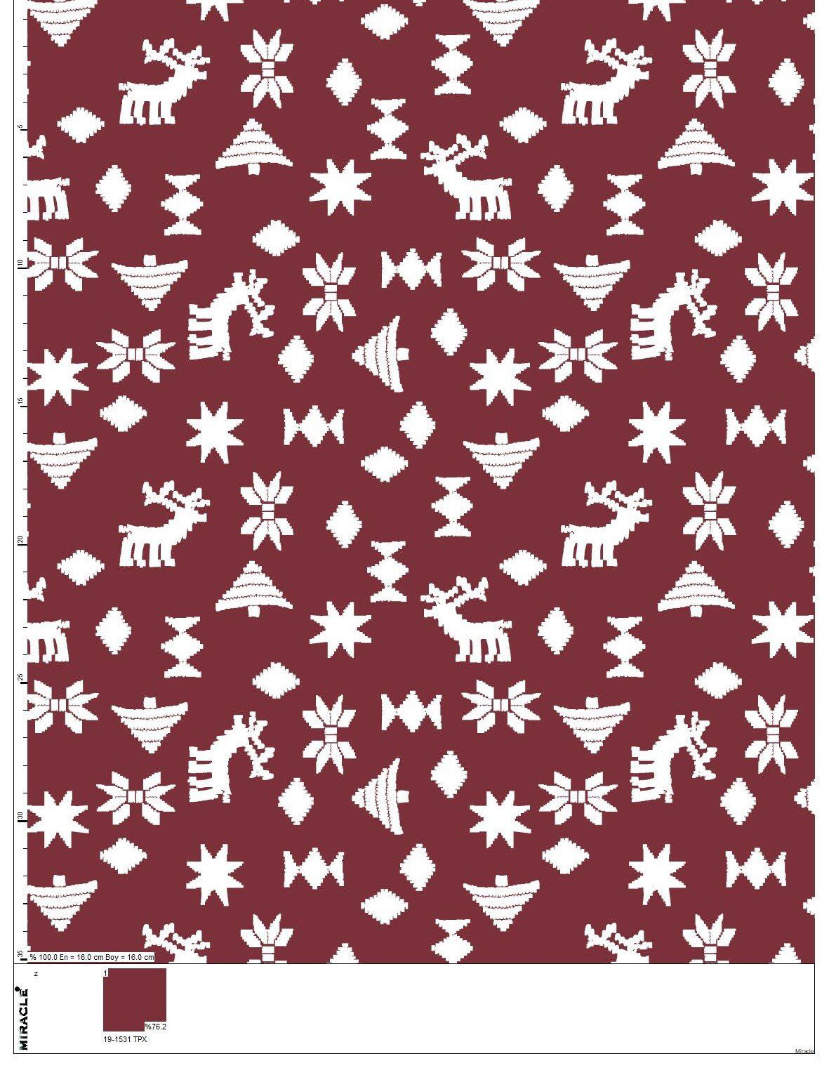Red Christmas Fabric By The Yard Couture Modern Sewing Fabric