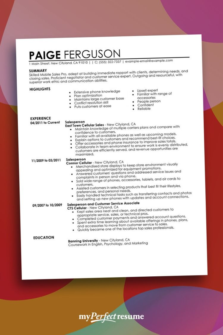 Just choose one of our jobwinning resume templates and