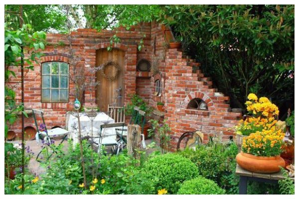 Amazing ideas with stone gazebo without a roof