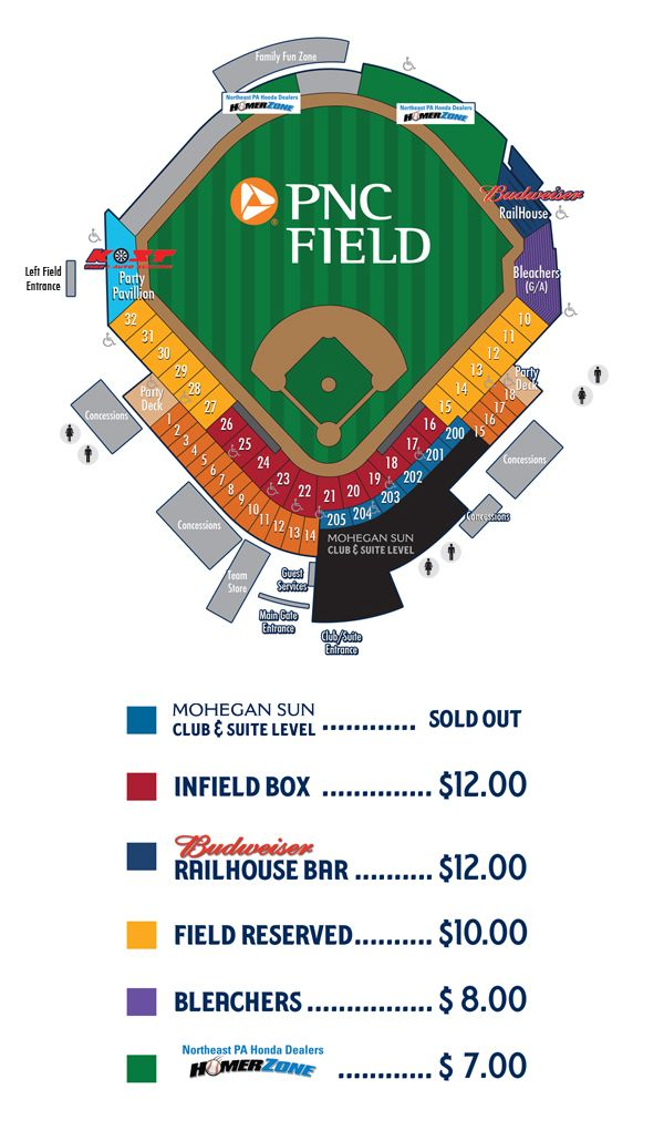 Pnc Field Seating Chart Scranton Wilkes Barre Railriders Visit Pnc Field Pnc Minor League Baseball Wilkes Barre