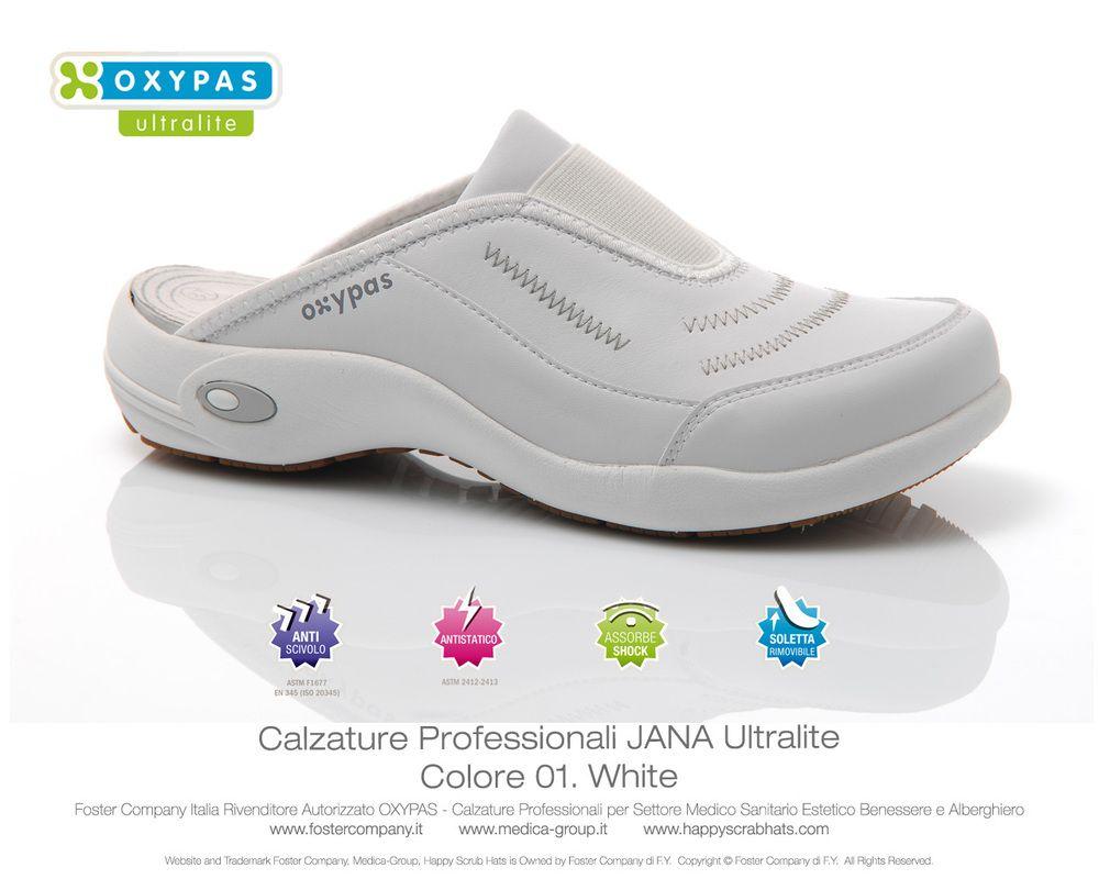 aspetto dettagliato 7cc9b 99edd Calzature Professionali Oxypas JANA Colore 01. White ...
