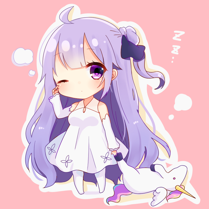 Unicorn Azur Lane Chibi in 2019 Anime girl cute