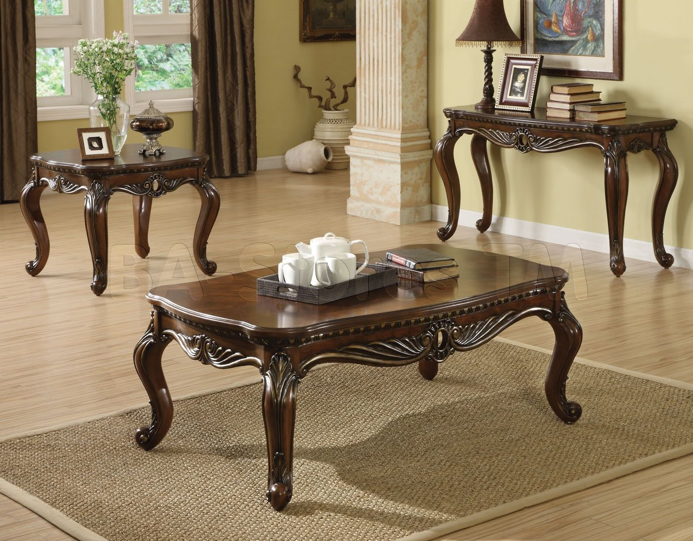 Traditional Coffee And End Table Sets  Httptherapybychance Unique No Furniture Living Room Inspiration Design
