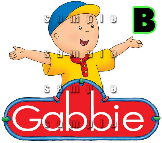 3 Personalized Caillou Edible Cake Topper by ItsEdible on Etsy