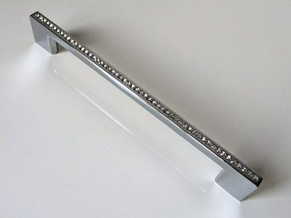7 55 192 Mm Crystal Dresser Drawer Pulls Handles Knobs Cabinet Knob Rhinestone Glass Kitchen Furniture