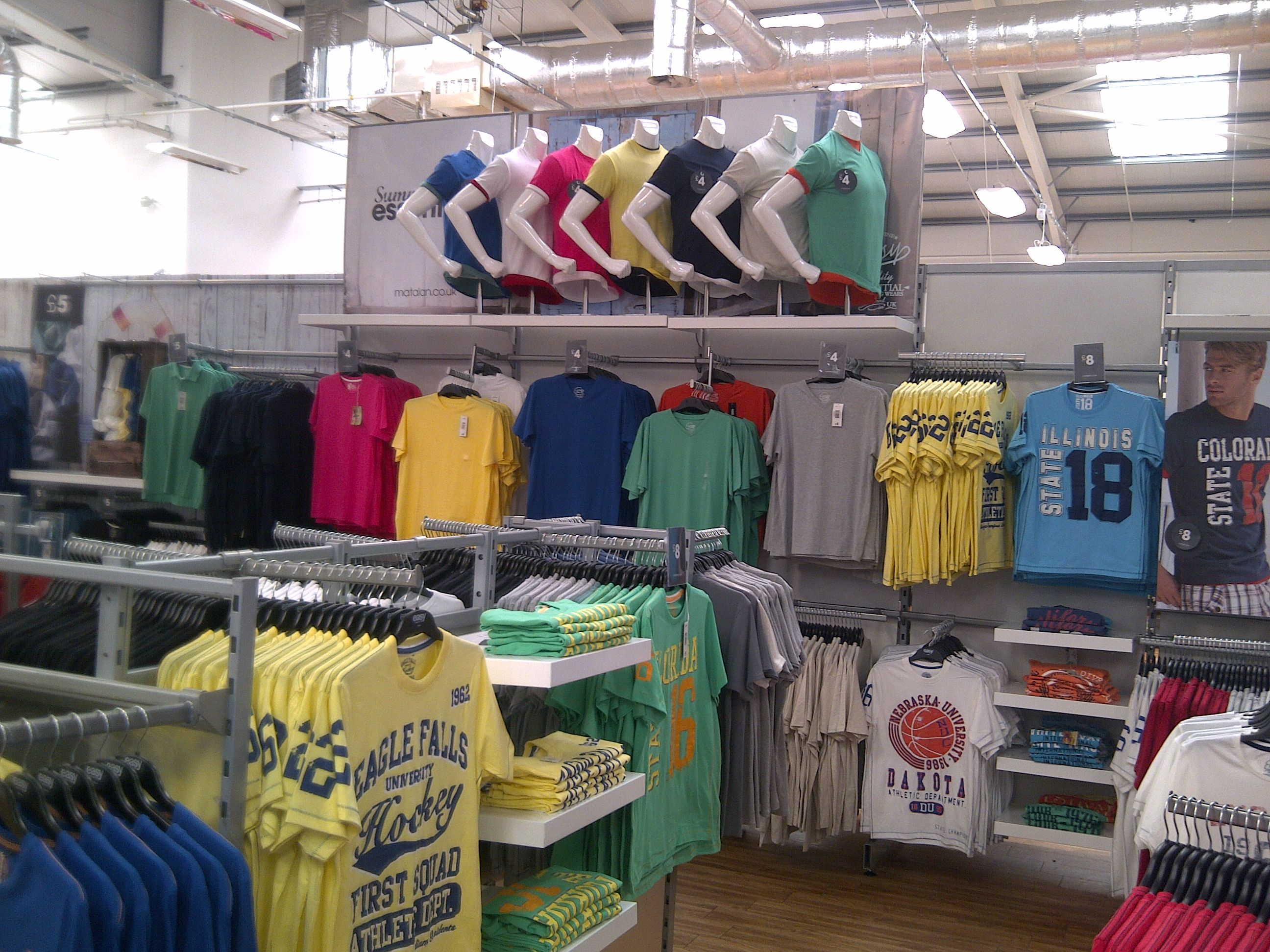 T-Shirt Display - As part of the table strategy I moved core T ...