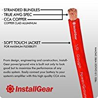 Installgear 1 0 Gauge Ga Awg Red 25ft Power Ground Cable True Spec And Soft Touch Wire Power True Gauges