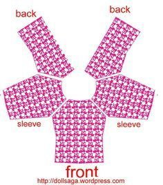 DIY –T Shirt Pattern For Barbie #barbie