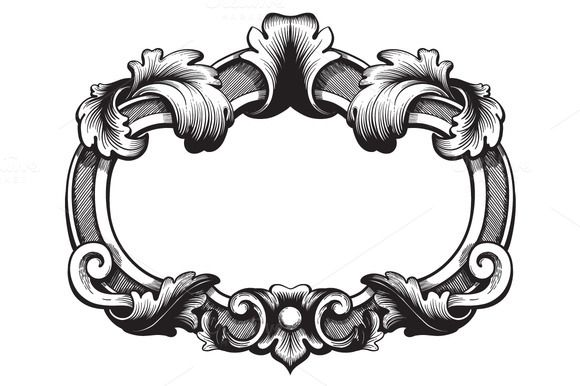 antique picture frames vector. Check Out Ornate Vintage Frame. Vector. By SamiraDragonfly On Creative Market Antique Picture Frames Vector V