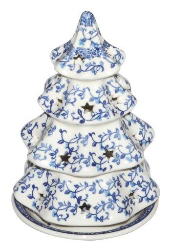 New Polish Pottery Christmas Tree Lg Candle Luminary Boleslawiec Ca Pattern 1824 Polish Pottery Pottery Polish Stoneware