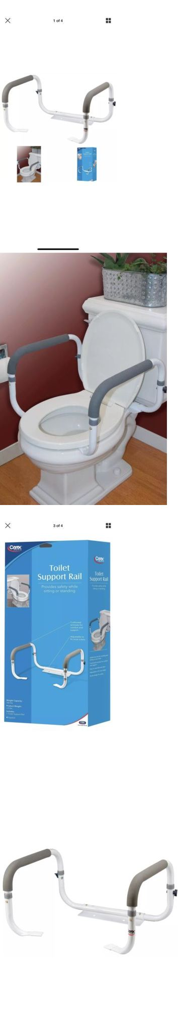 Handles and Rails 171537 Toilet Safety Frame Rail Bathroom Grab