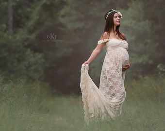 fe2ba47ac62 Lace Maternity Gown • Valerie Gown • Maternity dress • Vintage ...
