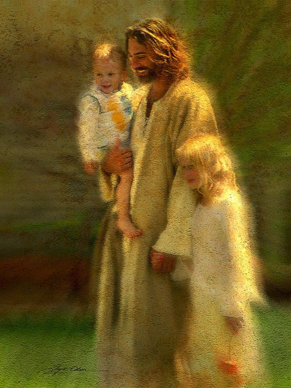 In the Arms of His Love  Art Print by Greg Olsen in 2021 | Jesus, Jesus pictures, Pictures of christ