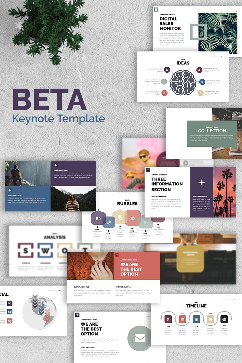 Beta Presentation Keynote Template 68564 Free Keynote Template