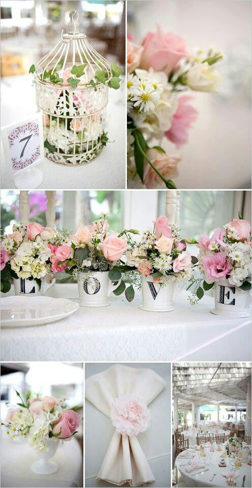 Pin by Jessica Scott on Cool Wedding Ideas Shabby chic wedding decor Garden chic wedding