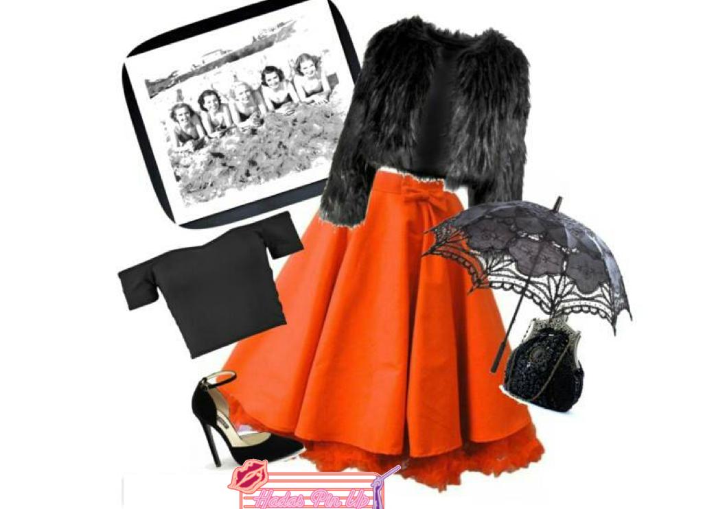 Un look creado a partir de nuestra falda de capa red pinup. Disponible en www.hadaspinup.com #pinup #años50 #hadaspinup