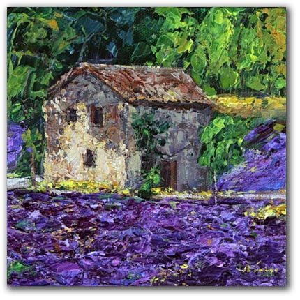 French Cottage with lavender.