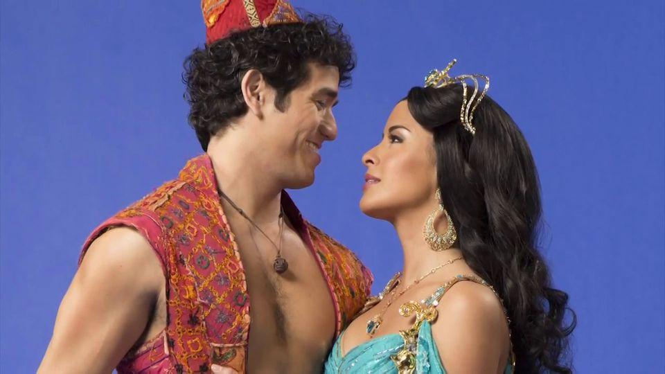 Adam Jacobs As Aladdin And Courtney Reed As Jasmine Aladdin