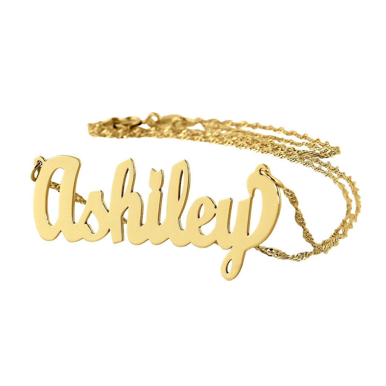 Dainty name necklace k gold personalized pendant chain inch