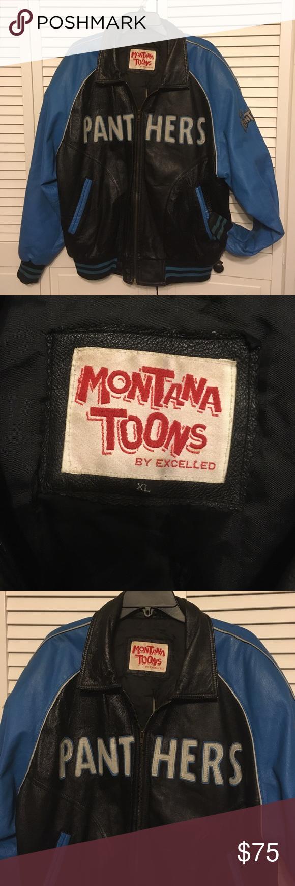 newest 6ae77 2c4eb Vintage Montana Toons Carolina Panthers Jacket 90s Vintage ...