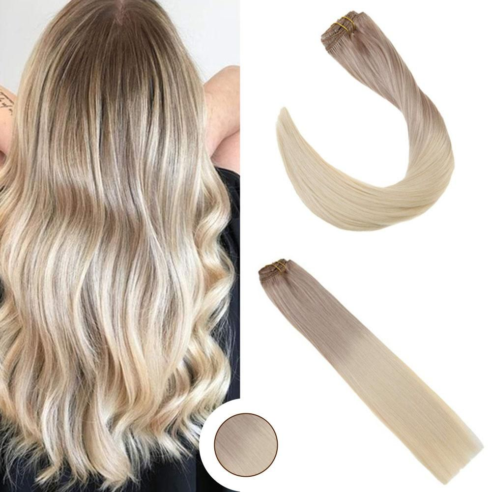 Ombre Hair Extensions Clip In Human Hair Blonde Color Full Head 18 60 Ombre Hair Extensions Tape In Hair Extensions Clip In Hair Extensions
