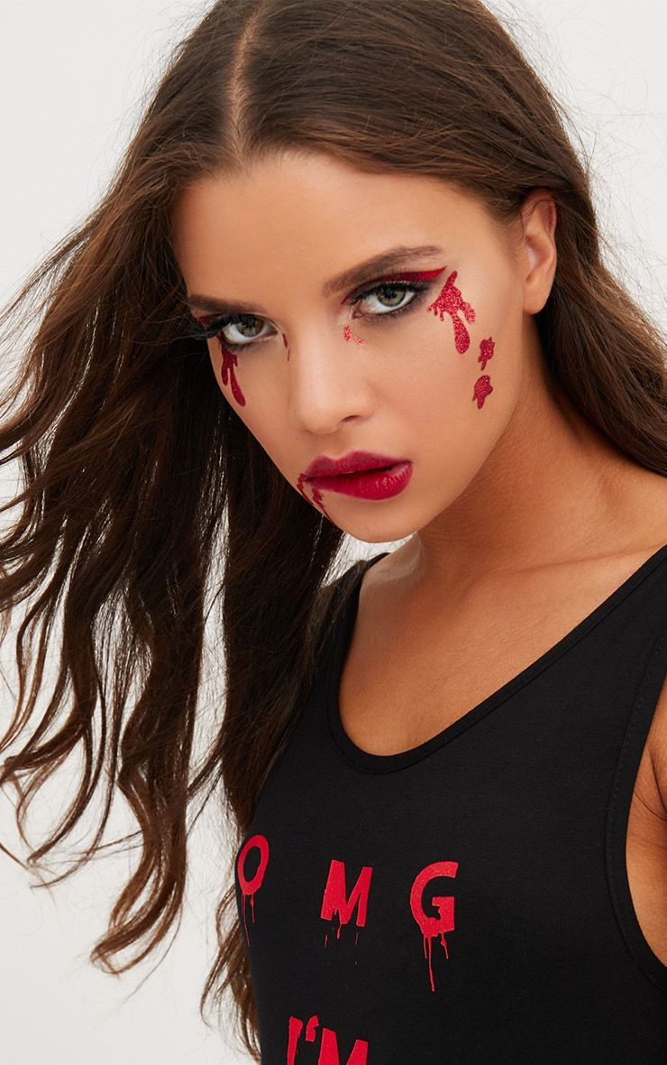 Halloween Dripping Blood Face Stickers