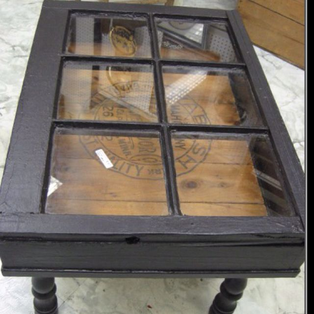 Old Window Turned Into A Coffee Table If There Is Way To Open The It Can Be Used As Shadow Box Too I Like Idea