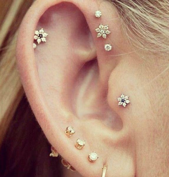 sabfashionlab fashion mode ear candy pierced ears flowers