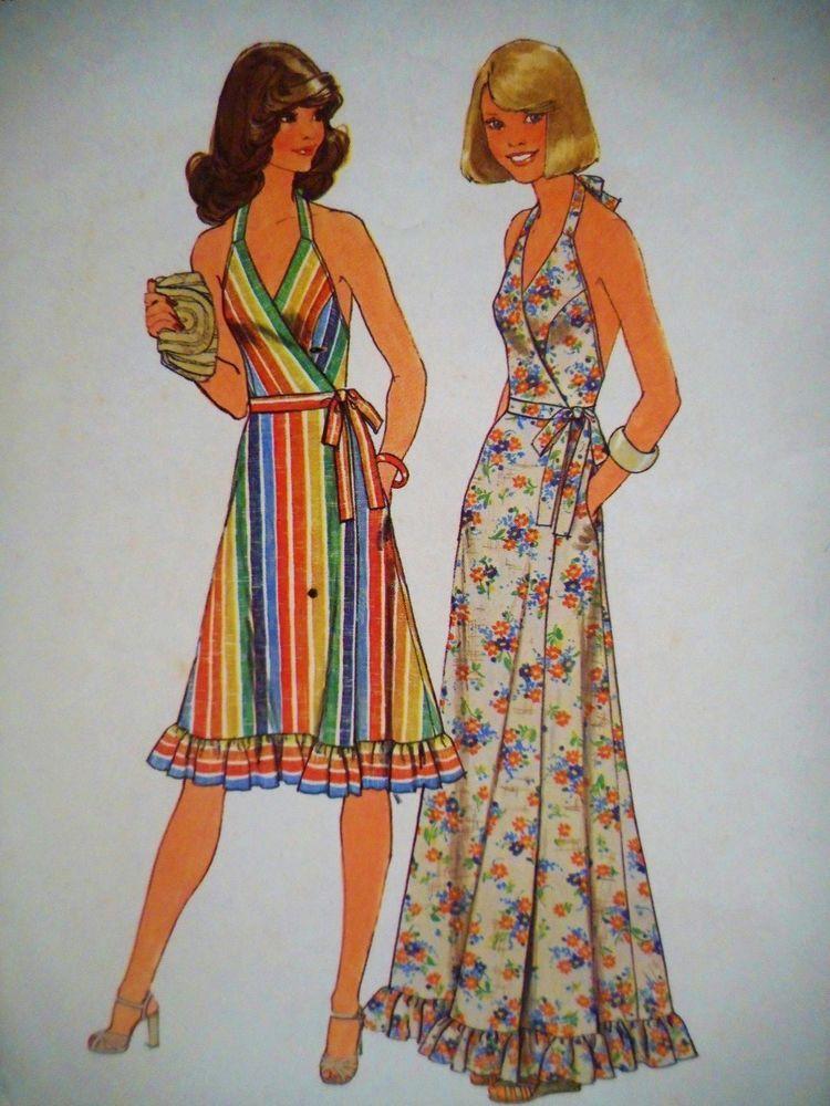 By Geoffrey Beene R905 1970s Vintage VOGUE Sewing Pattern B34 EVENING DRESS