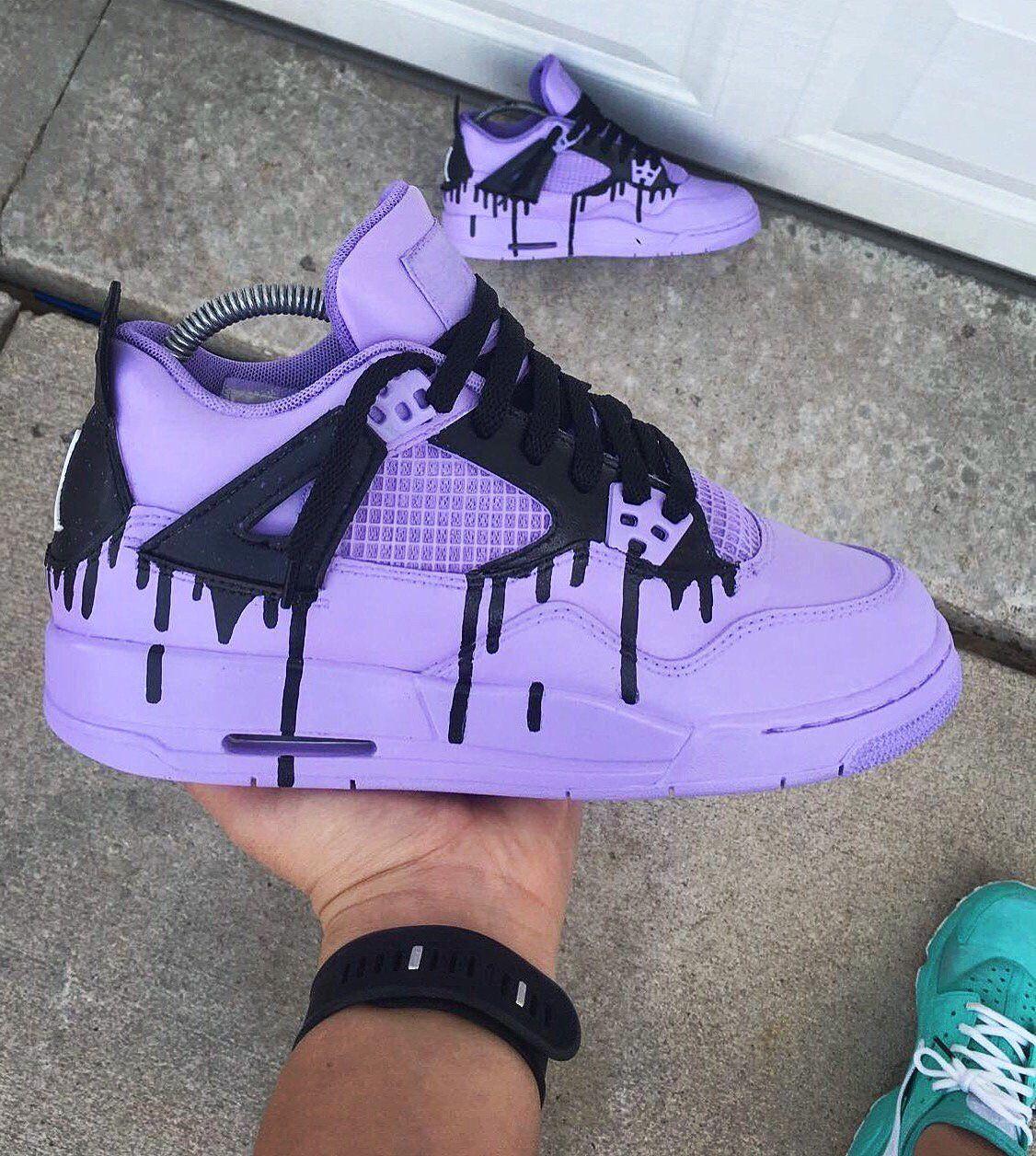 Drip Custom Jordan 4s. email me after