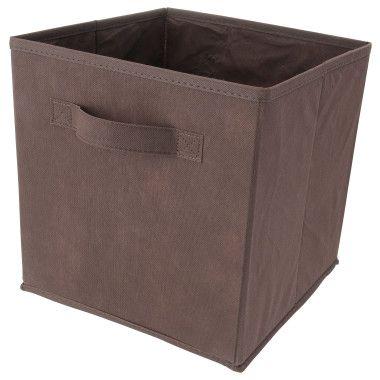 Storage Bin Cube Brown 10 5 Quot X 10 5 Quot X 11 Quot Dollar General Cajas