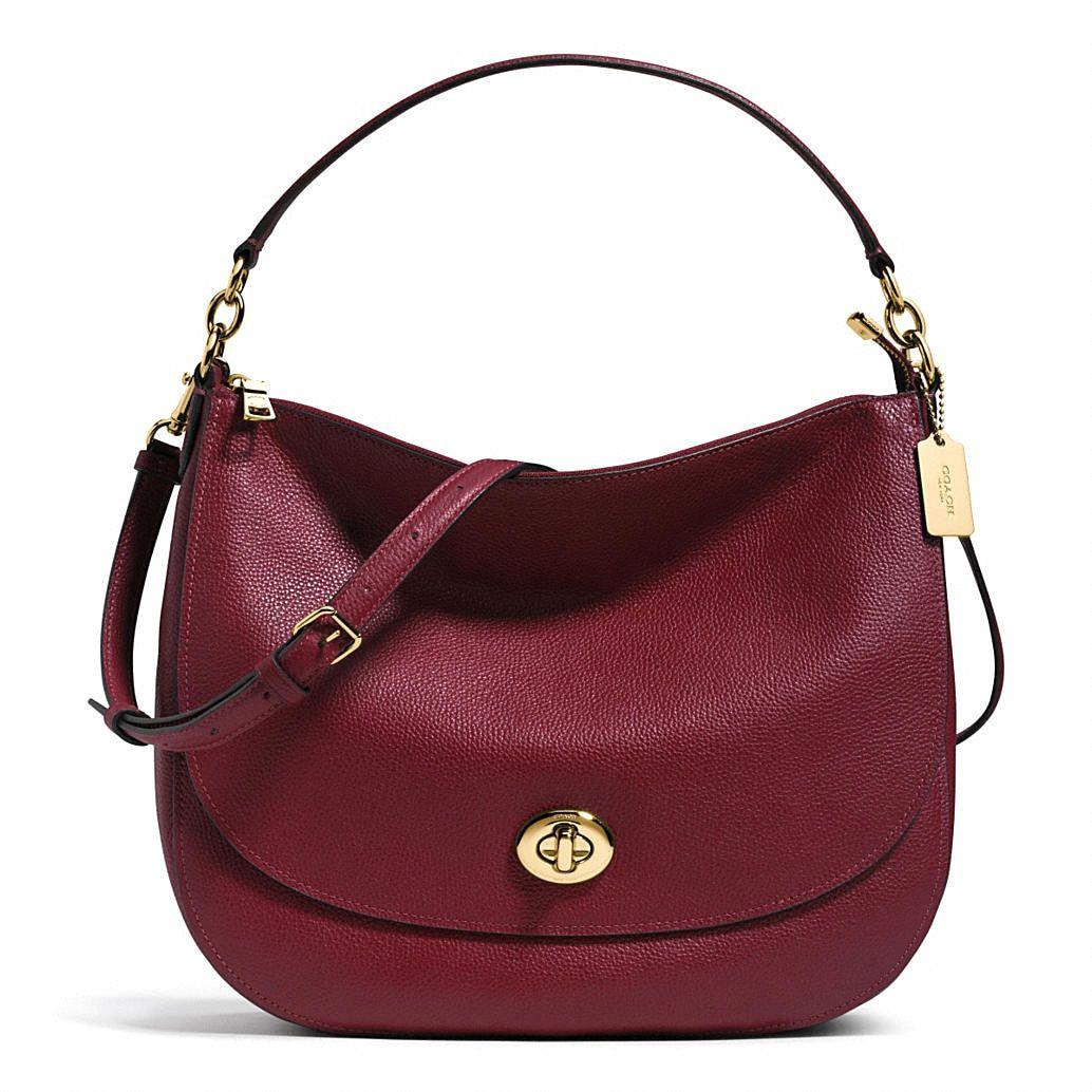 Pinterest Turnlock Leather Hobo Coach HandbagProducts Burgundy kOiTuXZP