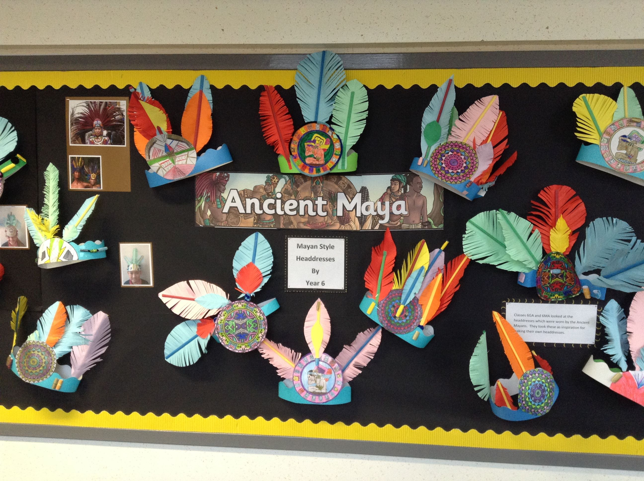 Ancient Mayan Inspired Headdresses