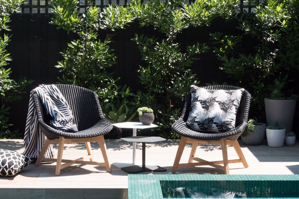 Samera s 3 hexagonal side tables luxury outdoor