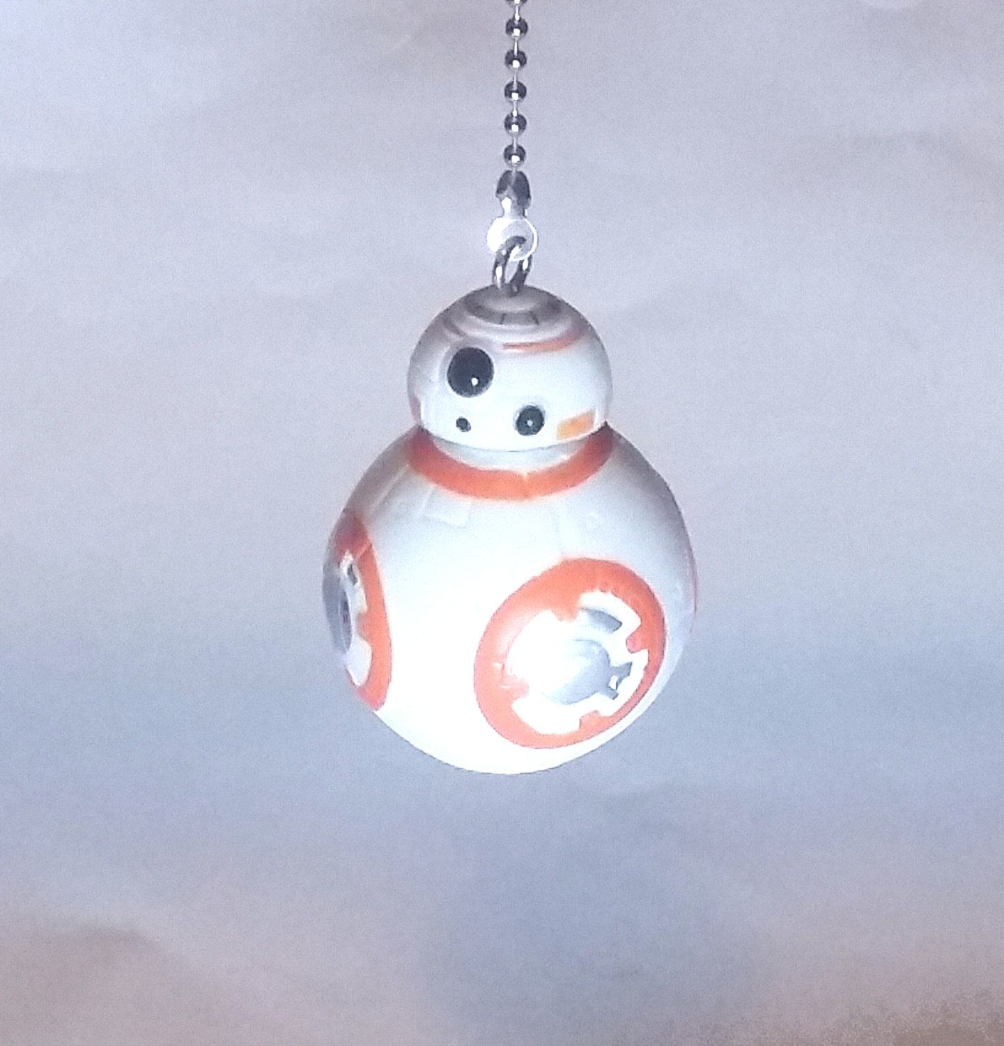 BB8 Ceiling Fan Pull   Light Pull Chain, Star Wars Decor, Kids Room Decor,  Gift For Boys, Gift For Girls